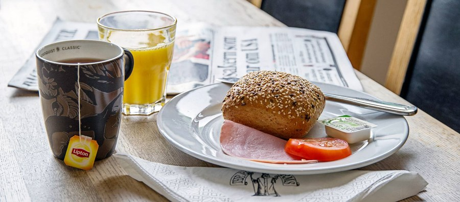 Hotel breakfast served at Hotel Bishops Arms in Mora